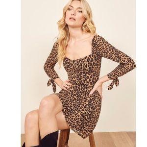 Reformation Sydney Dress Leopard Mini 4